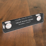 Baseball Coach Desk Name Plate