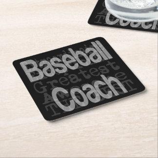 Baseball Coach Extraordinaire Square Paper Coaster