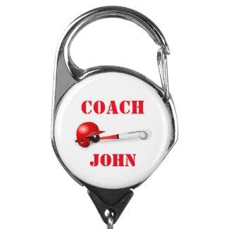 Baseball Coach I.D. Badge Holder