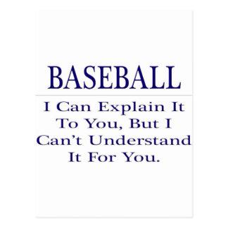 Baseball Coach Joke .. Explain Not Understand Postcard