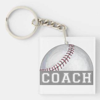 Baseball Coach Keychain