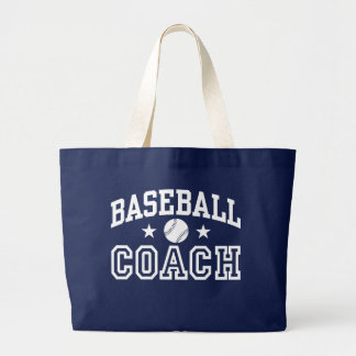 Baseball Coach Large Tote Bag
