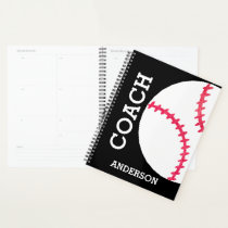 Baseball Coach Personalized Sports Team Planner