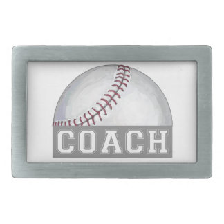 Baseball Coach Rectangular Belt Buckle