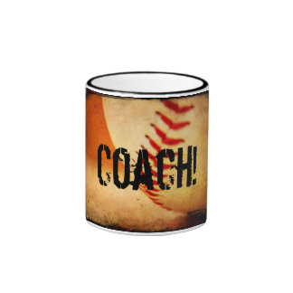 Baseball Coach Ringer Mug