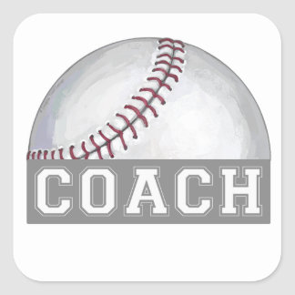 Baseball Coach Square Sticker