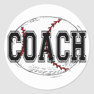 Baseball Coach T-shirts and Gifts. Classic Round Sticker
