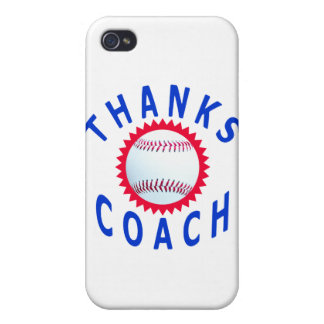 Baseball Coach Thank You Cards and Gifts iPhone 4 Cases