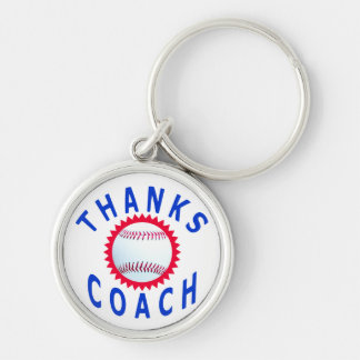 Baseball Coach Thank You Cards and Gifts Keychain
