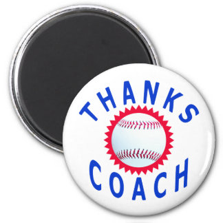 Baseball Coach Thank You Cards and Gifts Magnet