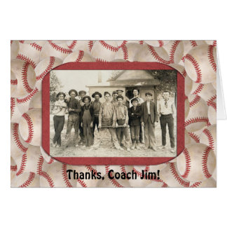 Baseball Coach Thank You Frame Card