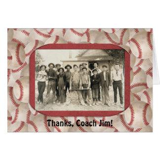 Baseball Coach Thank You Frame Greeting Card