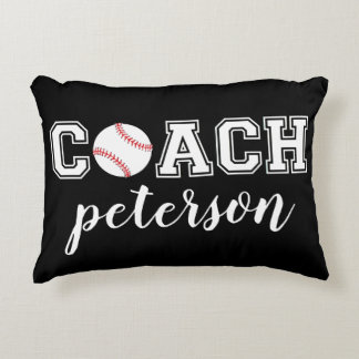 Baseball coach thank you gift - Batter Up! Accent Pillow