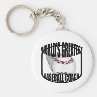Baseball Coach Worlds Greatest Basic Keychain