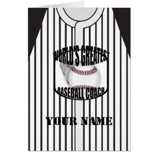 Baseball Coach Worlds Greatest Custom Card