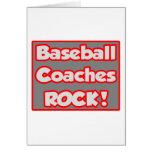 Baseball Coaches Rock! Card