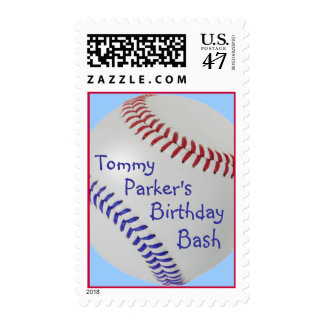 Baseball_Color Laces_All-American_personalized Sellos Postales