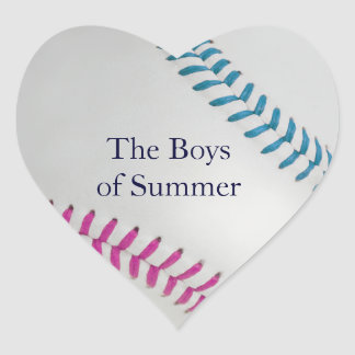 Baseball_Color Laces_fu_tl__Boys of Summer Heart Stickers