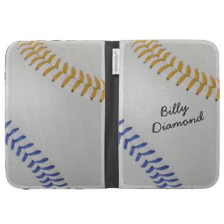 Baseball_Color Laces_go_bl_autograph style 1 Kindle Folio Case