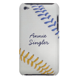 Baseball_Color Laces_go_bl_autograph style 2 Barely There iPod Covers