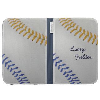 Baseball_Color Laces_go_bl_autograph style 2 Kindle Cases
