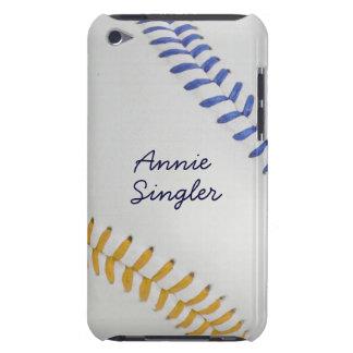 Baseball_Color Laces_go_bl_autograph style 2 iPod Case-Mate Case