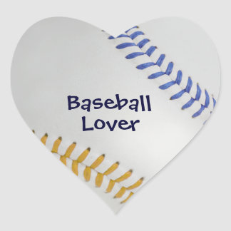 Baseball_Color Laces_go_bl_Baseball Lover Heart Stickers