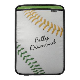 Baseball_Color Laces_go_gr_autograph style 1 MacBook Sleeve
