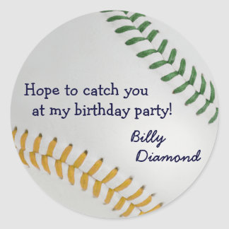 Baseball_Color Laces_go_gr_Birthday party Sticker