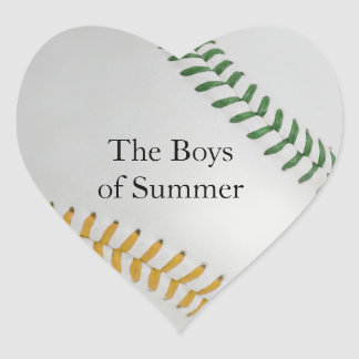 Baseball_Color Laces_go_gr__Boys of Summer Heart Stickers