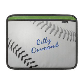 Baseball_Color Laces_gy_bk_autograph style 1 MacBook Air Sleeve