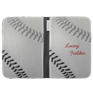 Baseball_Color Laces_gy_bk_autograph style 2 Kindle Folio Case