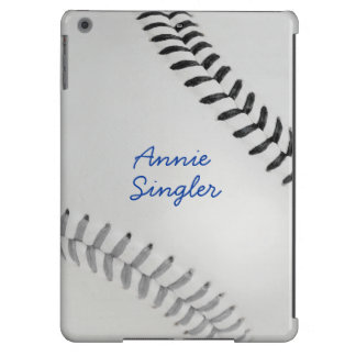 Baseball_Color Laces_gy_bk_autograph style 2 iPad Air Covers
