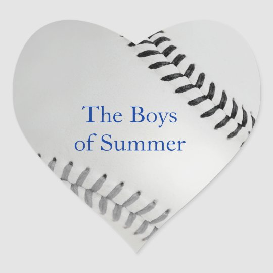 Baseball_Color Laces_gy_bk__Boys of Summer Heart Sticker