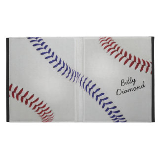 Baseball_Color Laces_nb_dr_autograph style 1 iPad Folio Cases