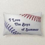 Baseball_Color Laces_nb_dr_Boys del verano Cojin