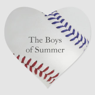 Baseball_Color Laces_nb_dr__Boys of Summer Heart Sticker