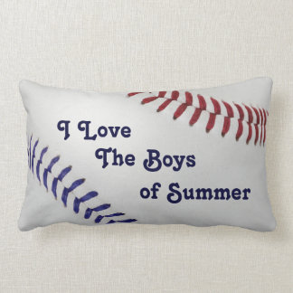 Baseball_Color Laces_nb_dr_Boys of Summer Throw Pillow