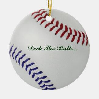 Baseball_Color Laces_nb_dr_Deck las bolas Adorno Navideño Redondo De Cerámica