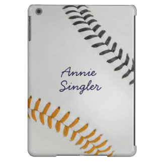 Baseball_Color Laces_og_bk_autograph style 2 Cover For iPad Air