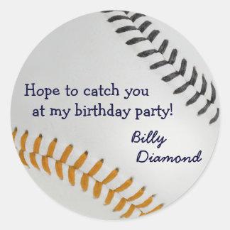 Baseball_Color Laces_og_bk_Birthday party Sticker