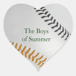 Baseball_Color Laces_og_bk__Boys of Summer Heart Sticker