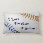 Baseball_Color Laces_og_bl_Boys del verano Cojin