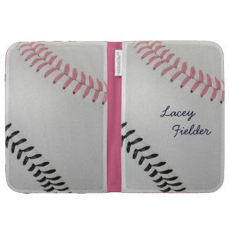 Baseball_Color Laces_pk_bk_autograph style 2 Cases For Kindle
