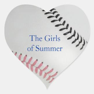 Baseball_Color Laces_pk_bk __Girls of Summer Heart Sticker
