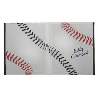 Baseball_Color Laces_rd_bk_autograph style 1 iPad Folio Covers