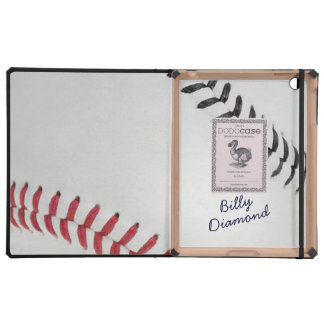Baseball_Color Laces_rd_bk_autograph style 1 Case For iPad
