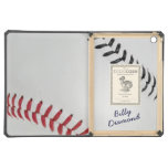 Baseball_Color Laces_rd_bk_autograph style 1 iPad Air Cases