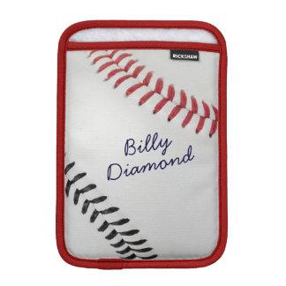 Baseball_Color Laces_rd_bk_autograph style 1 iPad Mini Sleeve
