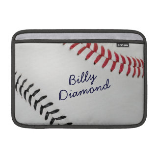 Baseball_Color Laces_rd_bk_autograph style 1 MacBook Air Sleeves